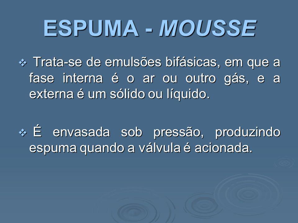 EMULSÃO  As emulsões são constituídas por substâncias aquosas e oleosas.