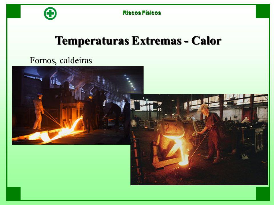 Temperaturas Extremas - Calor Riscos Físicos Fornos, caldeiras