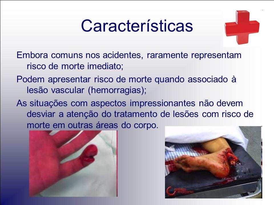 O socorrista deve procurar identificar 1.Lesões vasculares Hemorragias.