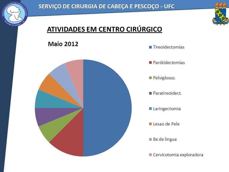 No mês de Junho / 2012 tivemos: 17 turnos de ambulatórios 198 pacientes atendidos no mês 11,6 pacientes por turno ATIVIDADES EM AMBULATÓRIOS