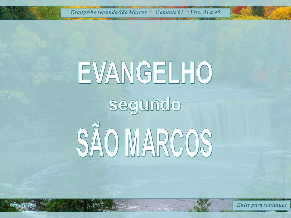 Evangelho segundo São Marcos Capítulo 01 Vers. 01 a 45 Enter para continuar