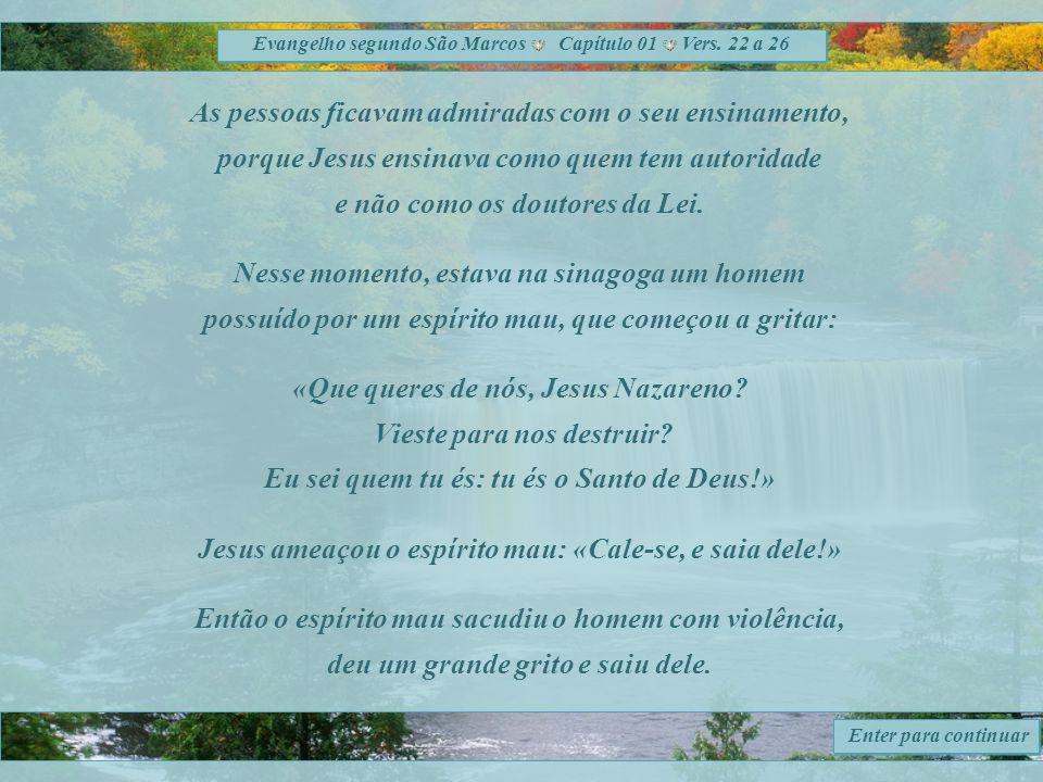 Evangelho segundo São Marcos Capítulo 01 Vers.