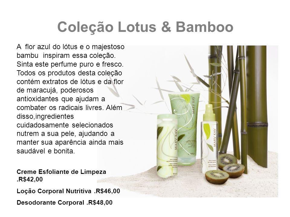 Coleção Lotus & Bamboo A flor azul do lótus e o majestoso bambu inspiram essa coleção. Sinta este perfume puro e fresco. Todos os produtos desta coleç