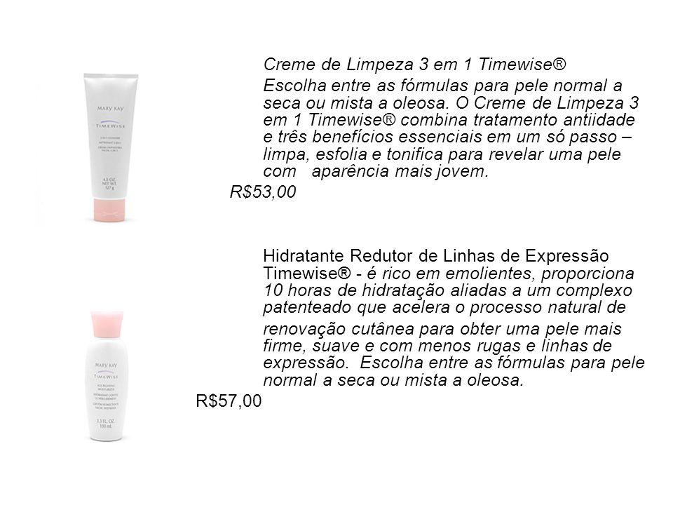 Creme de Limpeza 3 em 1 Timewise® Escolha entre as fórmulas para pele normal a seca ou mista a oleosa. O Creme de Limpeza 3 em 1 Timewise® combina tra