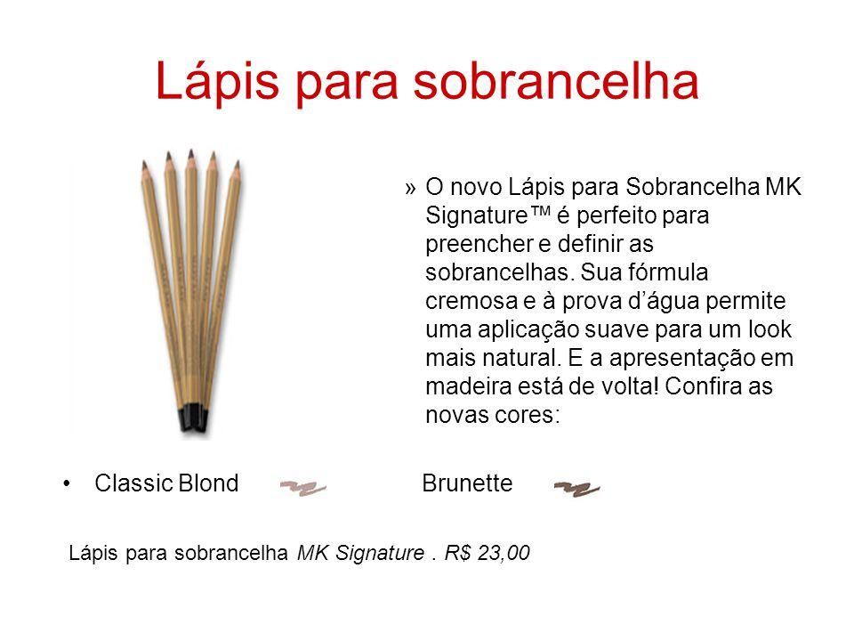 Lápis para sobrancelha »O novo Lápis para Sobrancelha MK Signature™ é perfeito para preencher e definir as sobrancelhas. Sua fórmula cremosa e à prova