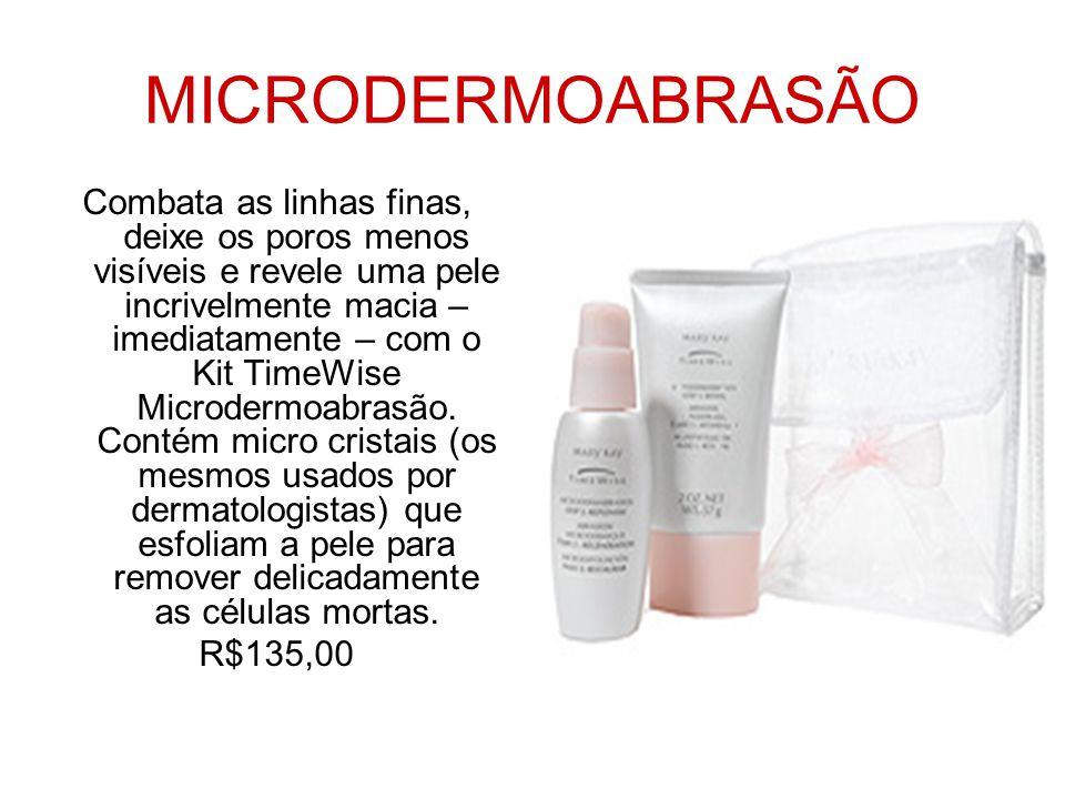 MICRODERMOABRASÃO Combata as linhas finas, deixe os poros menos visíveis e revele uma pele incrivelmente macia – imediatamente – com o Kit TimeWise Mi