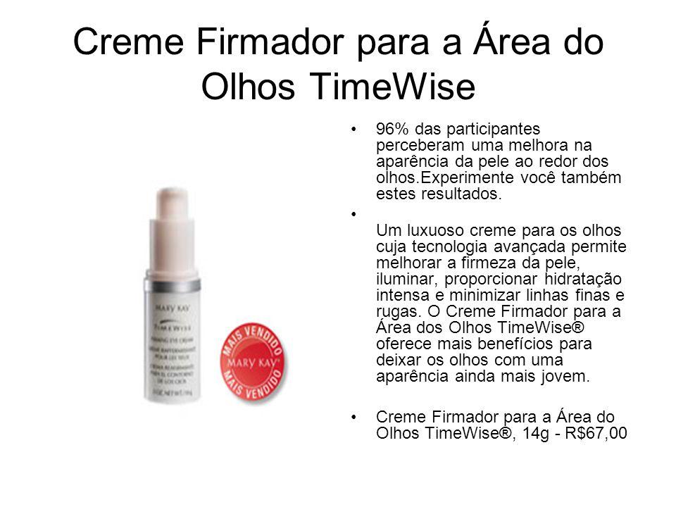 Creme Firmador para a Área do Olhos TimeWise 96% das participantes perceberam uma melhora na aparência da pele ao redor dos olhos.Experimente você tam