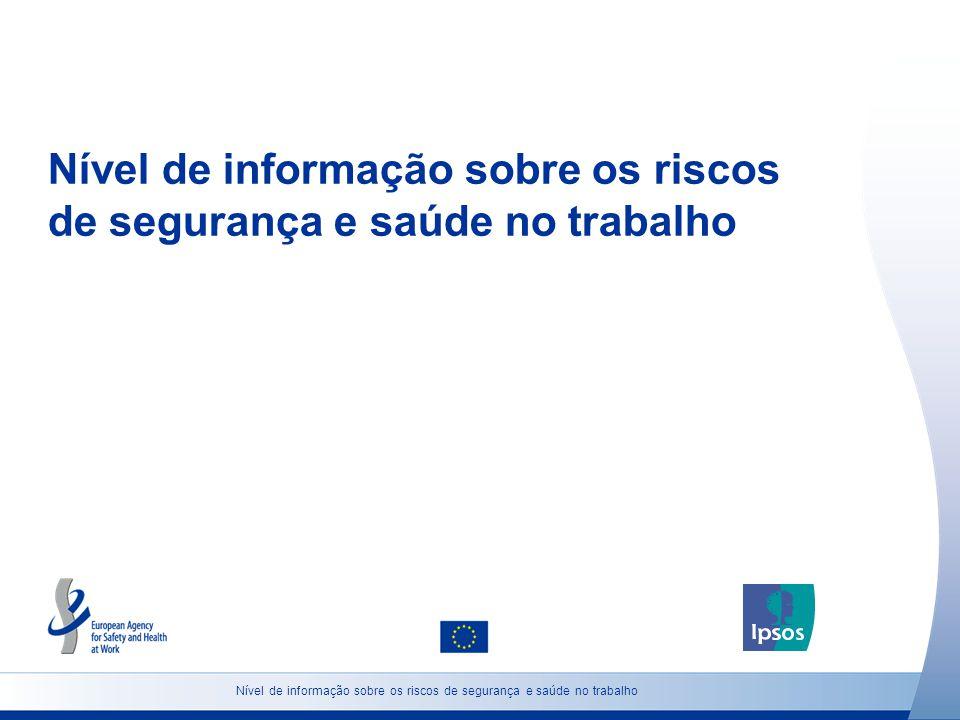 Nível de informação sobre os riscos de segurança e saúde no trabalho