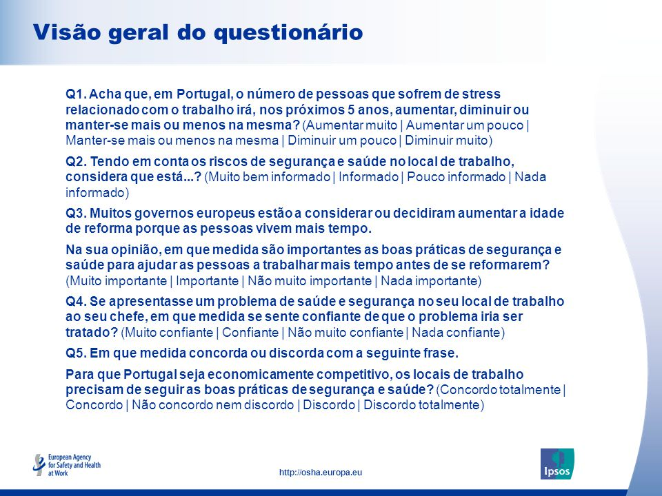 Confiança na acção para resolver os problemas de segurança e saúde no local de trabalho Confiança em acção para resolver os problemas de segurança e saúde no local de trabalho