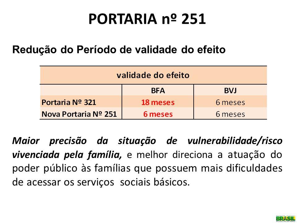 Maior precisão da situação de vulnerabilidade/risco vivenciada pela família, e melhor direciona a atuação do poder público às famílias que possuem mai