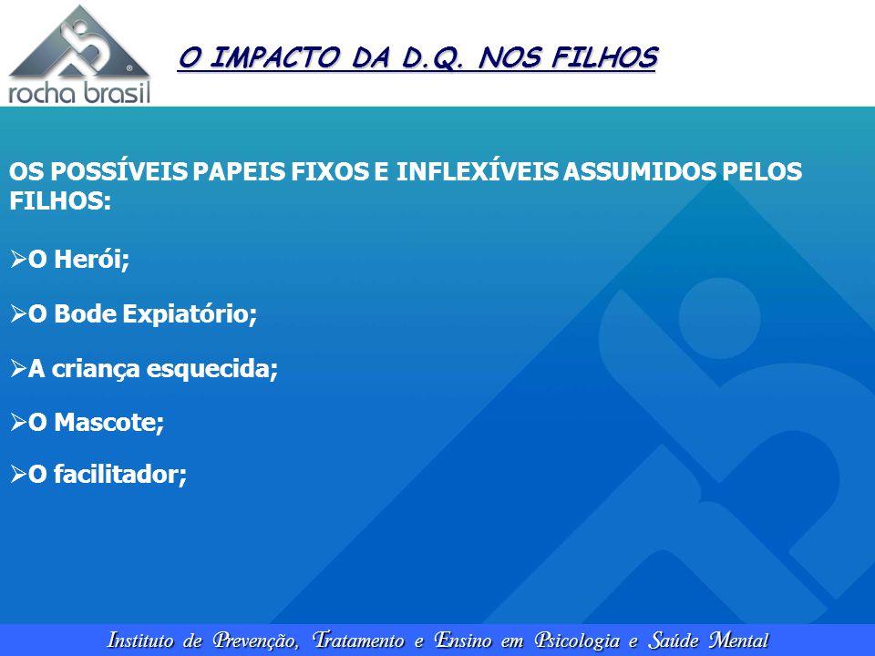 I nstituto de P revenção, T ratamento e E nsino em P sicologia e S aúde M ental O IMPACTO DA D.Q. NOS FILHOS OS POSSÍVEIS PAPEIS FIXOS E INFLEXÍVEIS A
