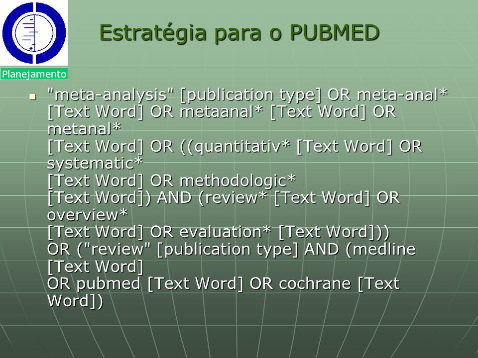 Estratégia para o PUBMED