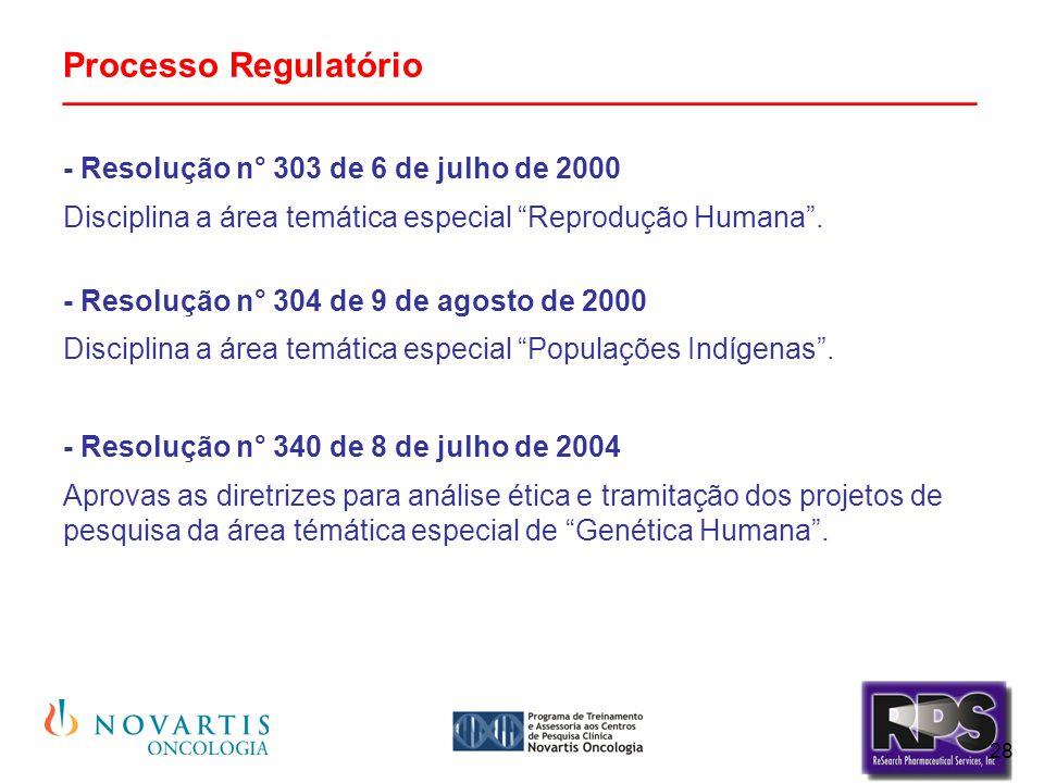 """28 Processo Regulatório _______________________________________________ - Resolução n° 303 de 6 de julho de 2000 Disciplina a área temática especial """""""