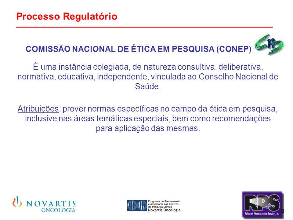 19 Processo Regulatório _______________________________________________ Inspeções de Boas Práticas Clínicas ANVISA poderá solicitar durante o transcurso de uma pesquisa clínica, mais informações aos responsáveis pela sua execução e/ou monitoramento, bem como realizar inspeções nos centros de estudos, verificando o grau de aderência à legislação brasileira vigente e às Boas Práticas Clínicas.