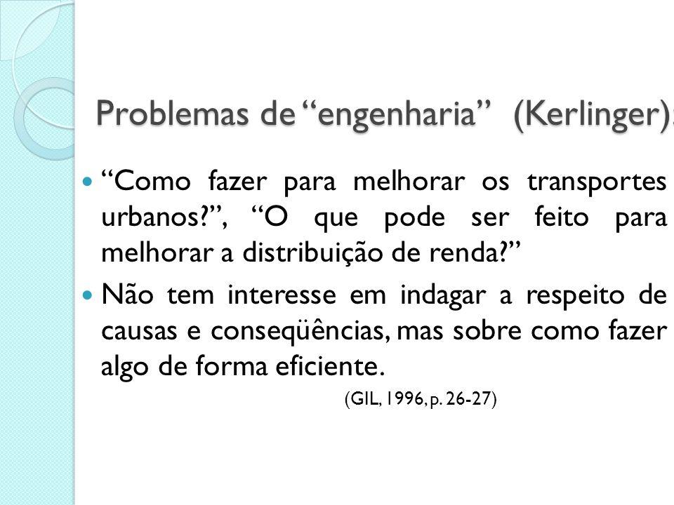 Definição de Problema Questão não solvida e que é objeto de discussão, em qualquer domínio do conhecimento. É necessário inicialmente verificar se o p