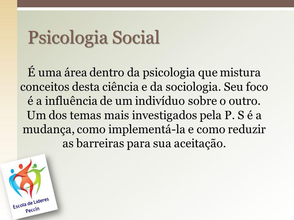 É uma área dentro da psicologia que mistura conceitos desta ciência e da sociologia. Seu foco é a influência de um indivíduo sobre o outro. Um dos tem