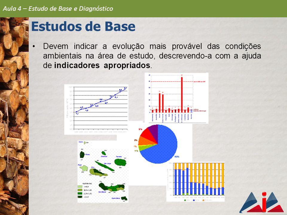 Devem indicar a evolução mais provável das condições ambientais na área de estudo, descrevendo-a com a ajuda de indicadores apropriados.
