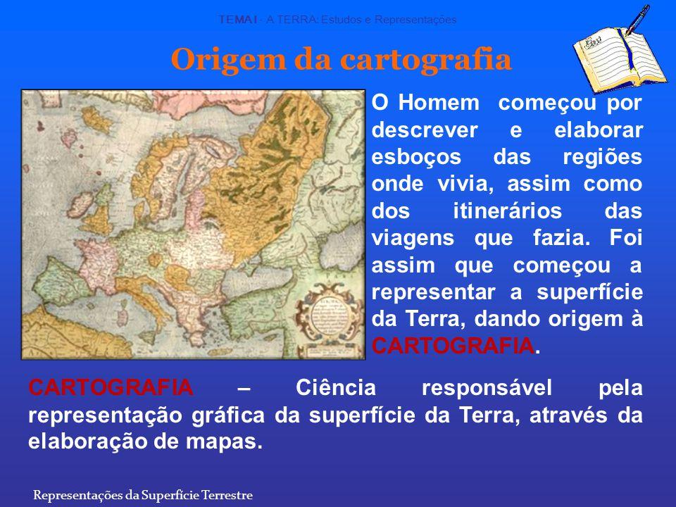 Mapas A representação da Terra, ou parte dela, numa superfície plana, designa-se por mapa.
