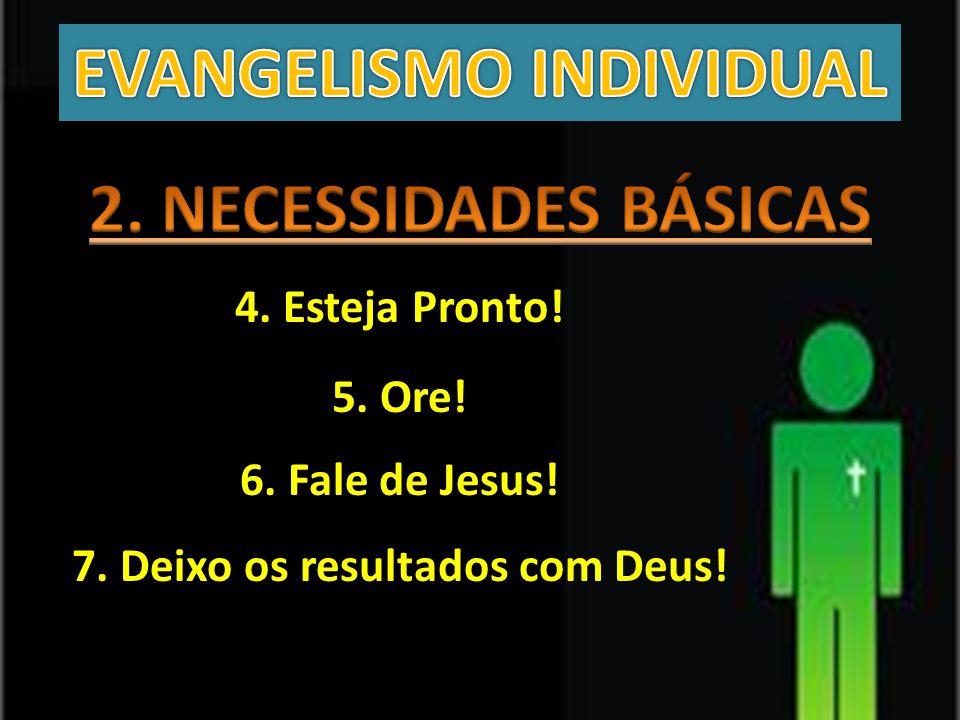 4. Esteja Pronto! 5. Ore! 6. Fale de Jesus! 7. Deixo os resultados com Deus!