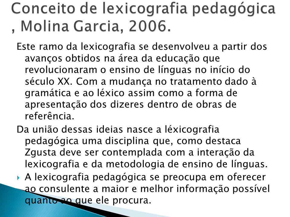 Este ramo da lexicografia se desenvolveu a partir dos avanços obtidos na área da educação que revolucionaram o ensino de línguas no início do século X
