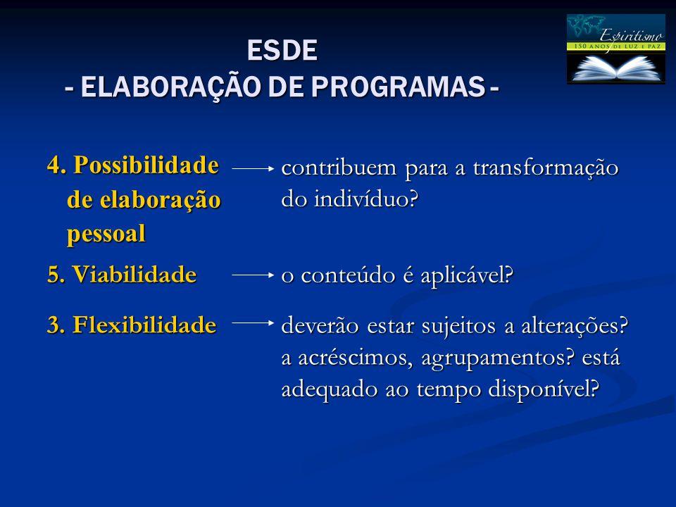 ESDE - ELABORAÇÃO DE PROGRAMAS - 4.