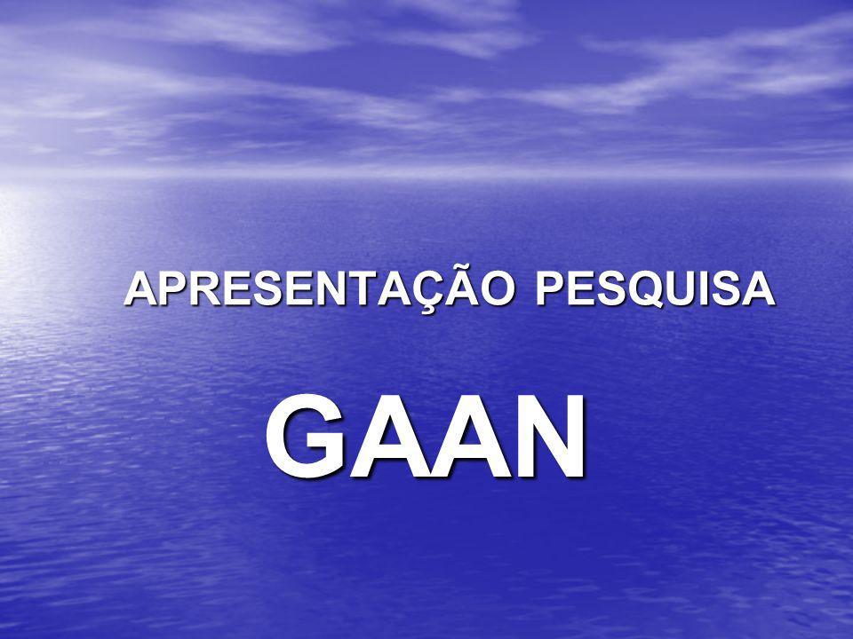 APRESENTAÇÃO PESQUISA APRESENTAÇÃO PESQUISA GAAN