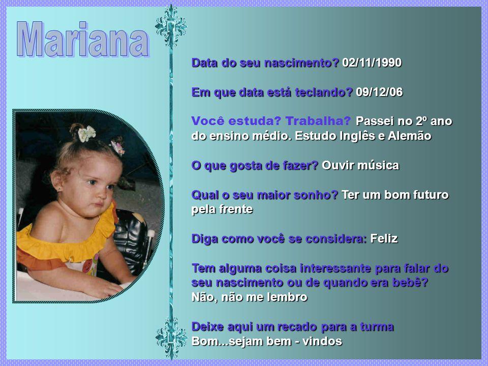 Data do seu nascimento 02/11/1990 Data do seu nascimento.