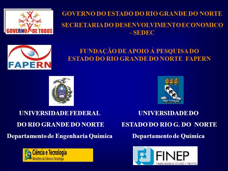 UNIVERSIDADE FEDERAL DO RIO GRANDE DO NORTE Departamento de Engenharia Química UNIVERSIDADE DO ESTADO DO RIO G.