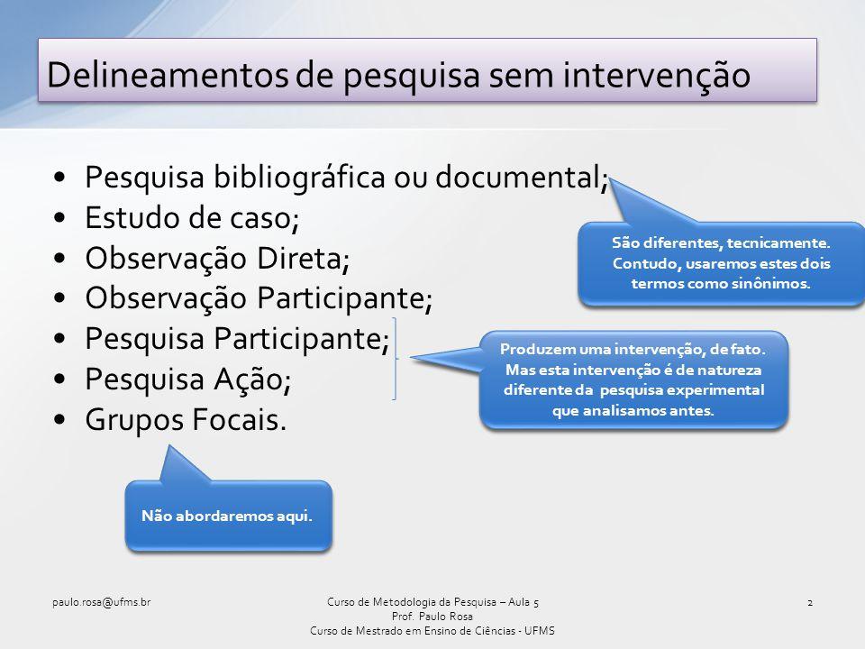 Estudo de Caso (cont.) – Relatório Final paulo.rosa@ufms.br23Curso de Metodologia da Pesquisa – Aula 5 Prof.