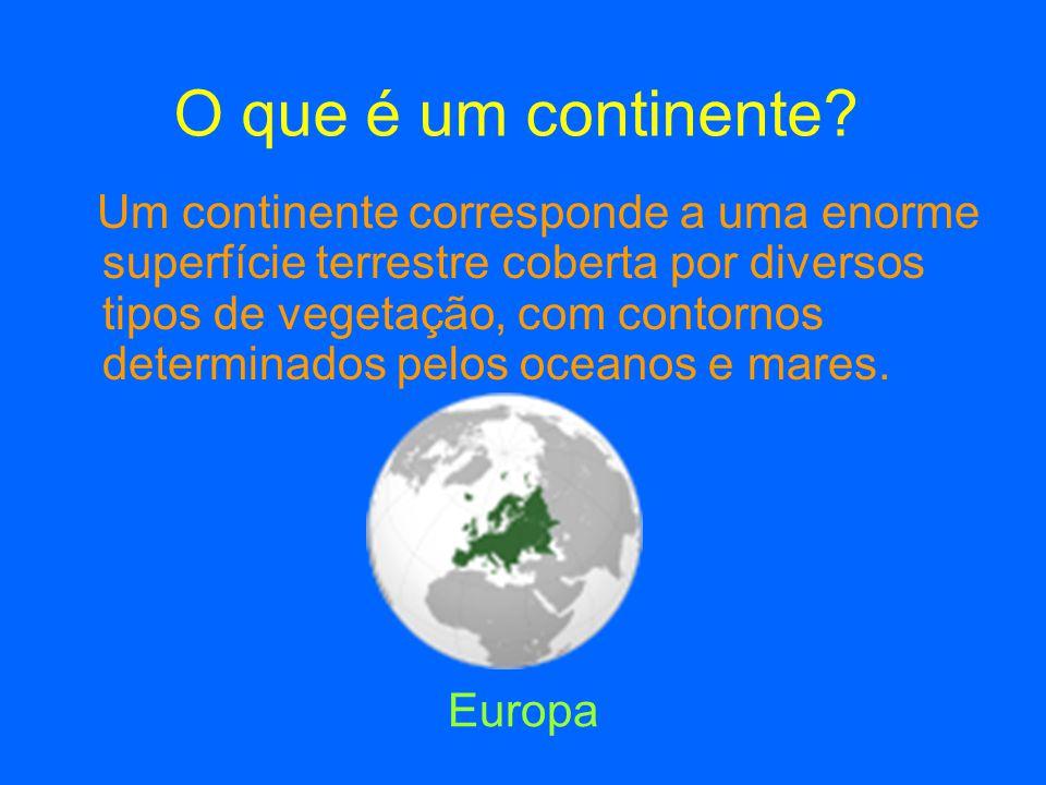Origem dos Continentes ☺ Se olhar com atenção para o mapa do mundo, verifica que a costa oriental da América do Sul pode encaixar na costa ocidental da África.
