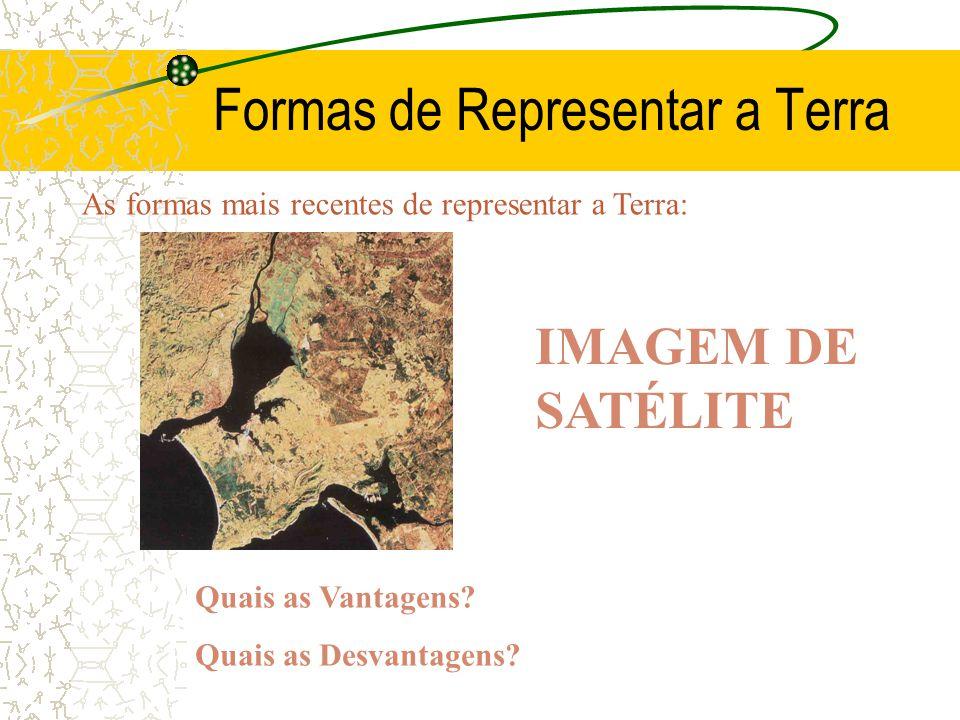 Formas de Representar a Terra As formas mais recentes de representar a Terra: Quais as Vantagens.