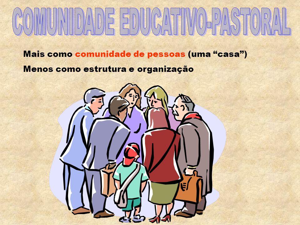 PASTORAL JUVENIL COMUNITÁRIA INTEGRAL Comunidade educativo-pastoral Estilo de animação Mentalidade projetual Proposta pastoral integral