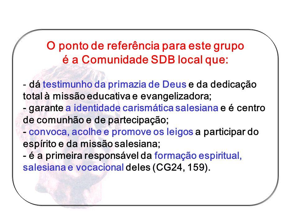 Grupo de pessoas que se identificam com Missão Sistema Educativo Espiritualidade assumem a tarefa de convocar motivar co-interessar PAPEL E FUNÇÃO DO