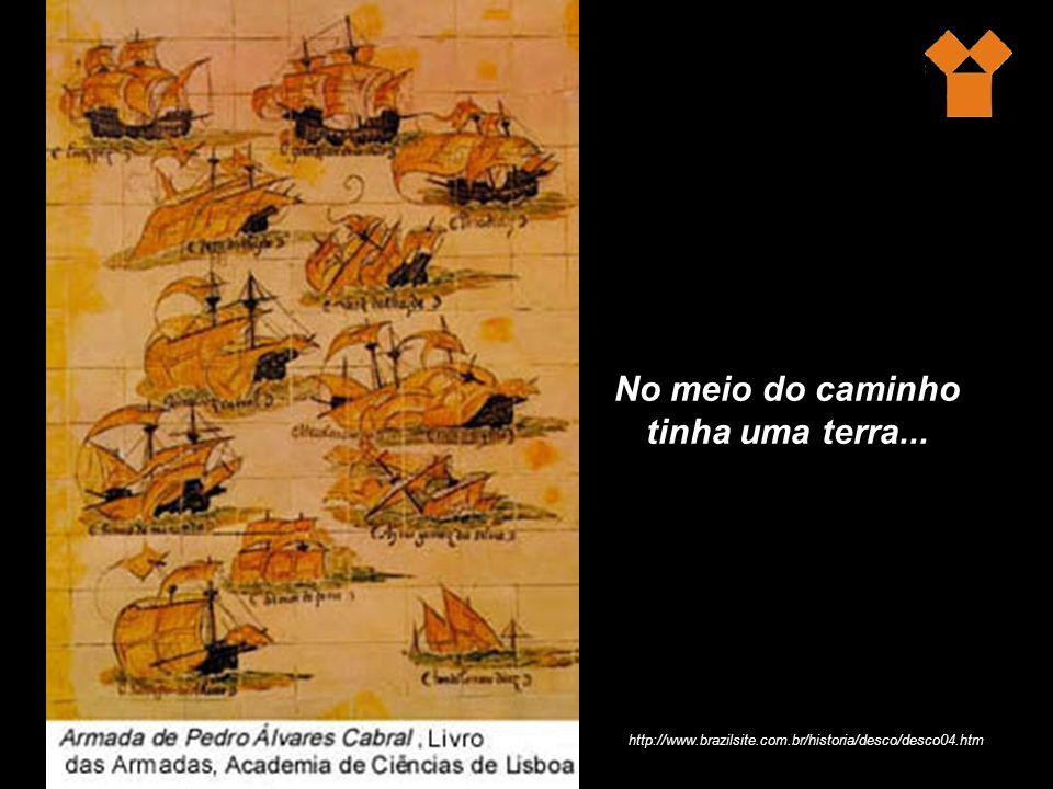 No meio do caminho tinha uma terra... http://www.brazilsite.com.br/historia/desco/desco04.htm