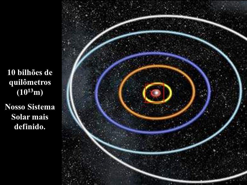 10 bilhões de quilômetros (10 13 m) Nosso Sistema Solar mais definido.