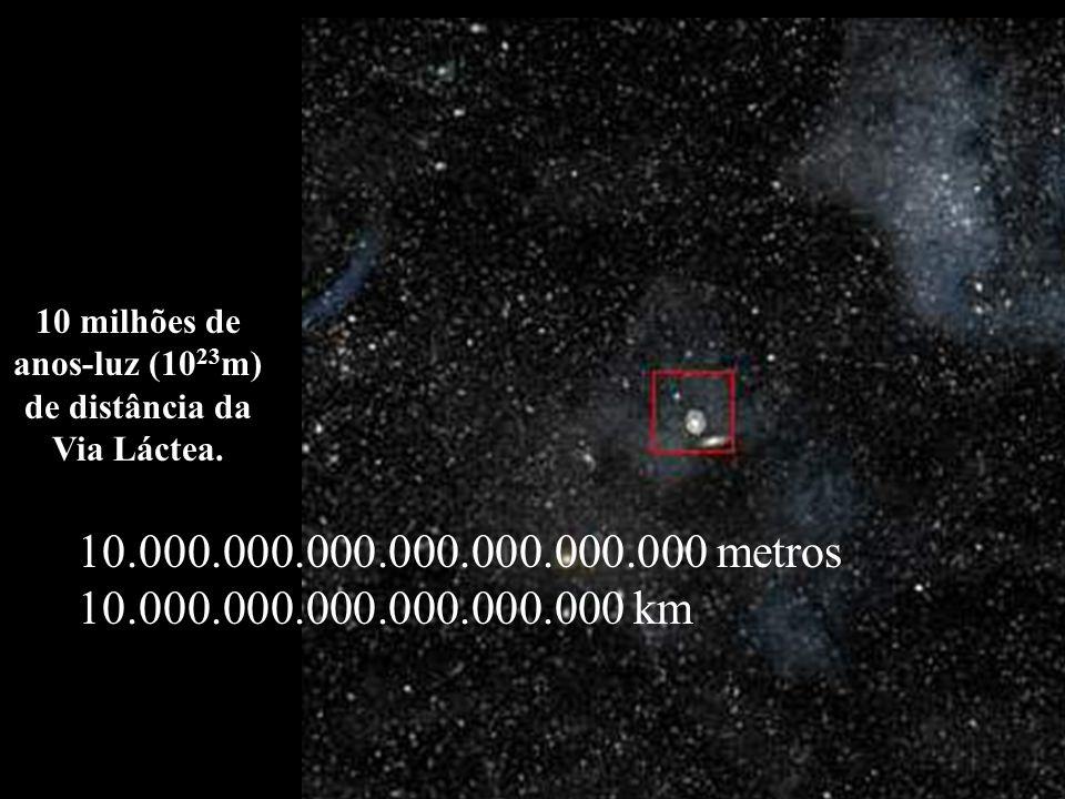 1 bilião de Km (10 12 m) Órbitas de: Mercúrio, Vênus, Terra, Marte e Júpiter.
