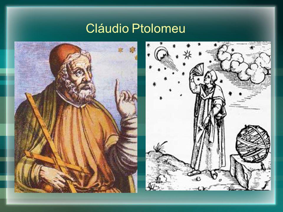Segundo Ptolomeu, os planetas, o Sol e a Lua giravam em torno da Terra na seguinte ordem: Lua, Mercúrio, Vênus, Sol, Marte, Júpiter e Saturno.