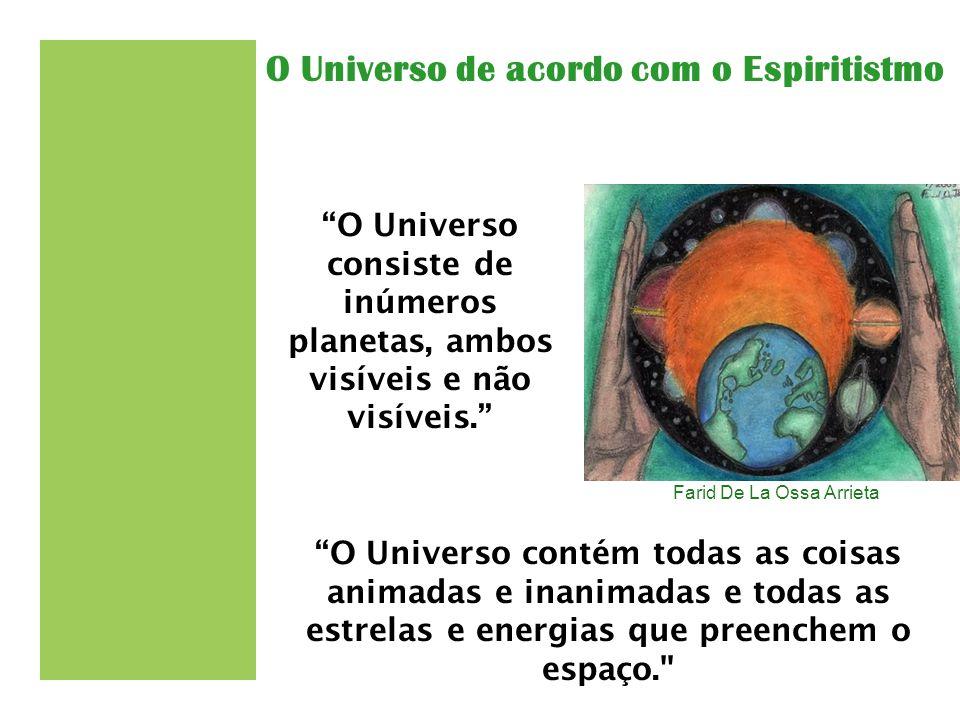 """Farid De La Ossa Arrieta """"O Universo consiste de inúmeros planetas, ambos visíveis e não visíveis."""" """"O Universo contém todas as coisas animadas e inan"""
