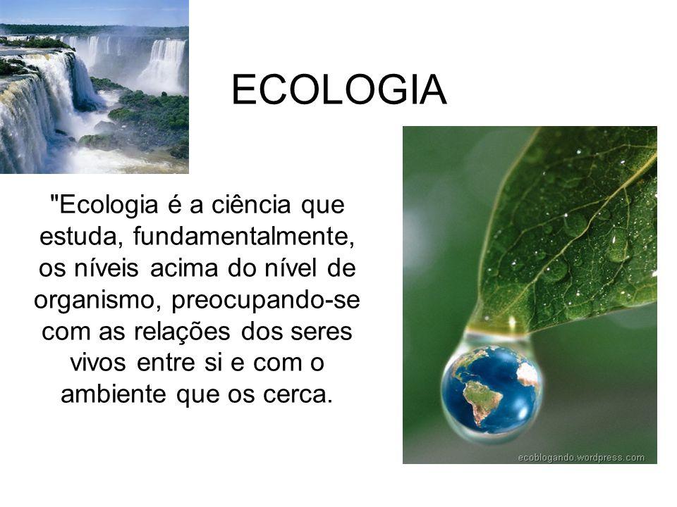 Biosfera - É o conjunto de todos os ecossistemas do planeta. É a porção viva do planeta.