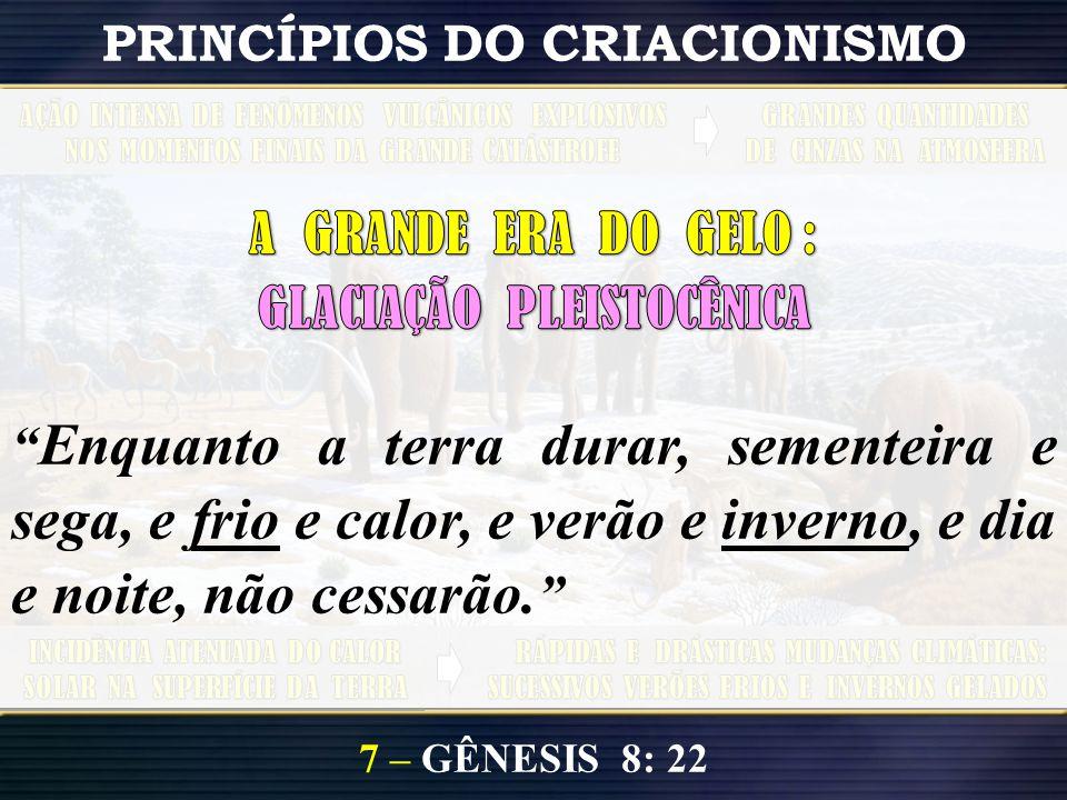 7 – GÊNESIS 8: 22 PRINCÍPIOS DO CRIACIONISMO