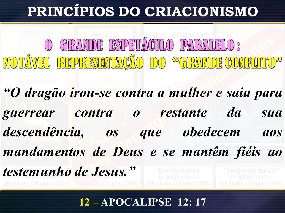 """PRINCÍPIOS DO CRIACIONISMO 12 – APOCALIPSE 12: 17 """"A Origem das Espécies"""" (1ª Edição/1859 – Edição dos 150 anos/2009) """"Livro dos Espíritos"""" (1ª Edição"""