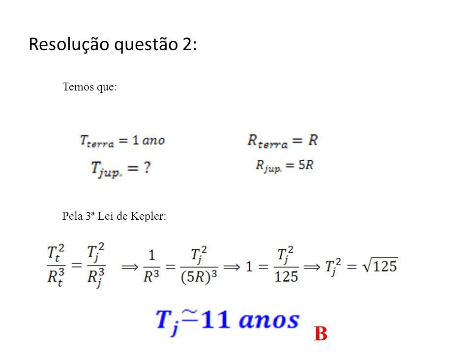 2. (Ufrs 2011) Considere o raio médio da órbita de Júpiter em torno do Sol igual a 5 vezes o raio médio da órbita da Terra. Segundo a 3 a Lei de Keple