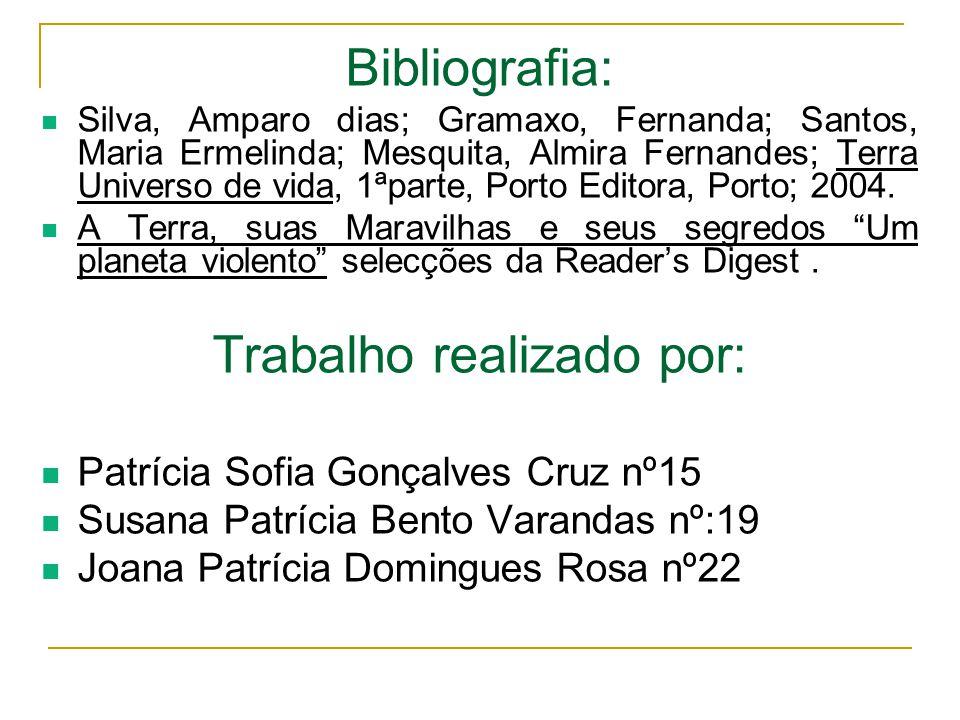 Bibliografia: Silva, Amparo dias; Gramaxo, Fernanda; Santos, Maria Ermelinda; Mesquita, Almira Fernandes; Terra Universo de vida, 1ªparte, Porto Edito