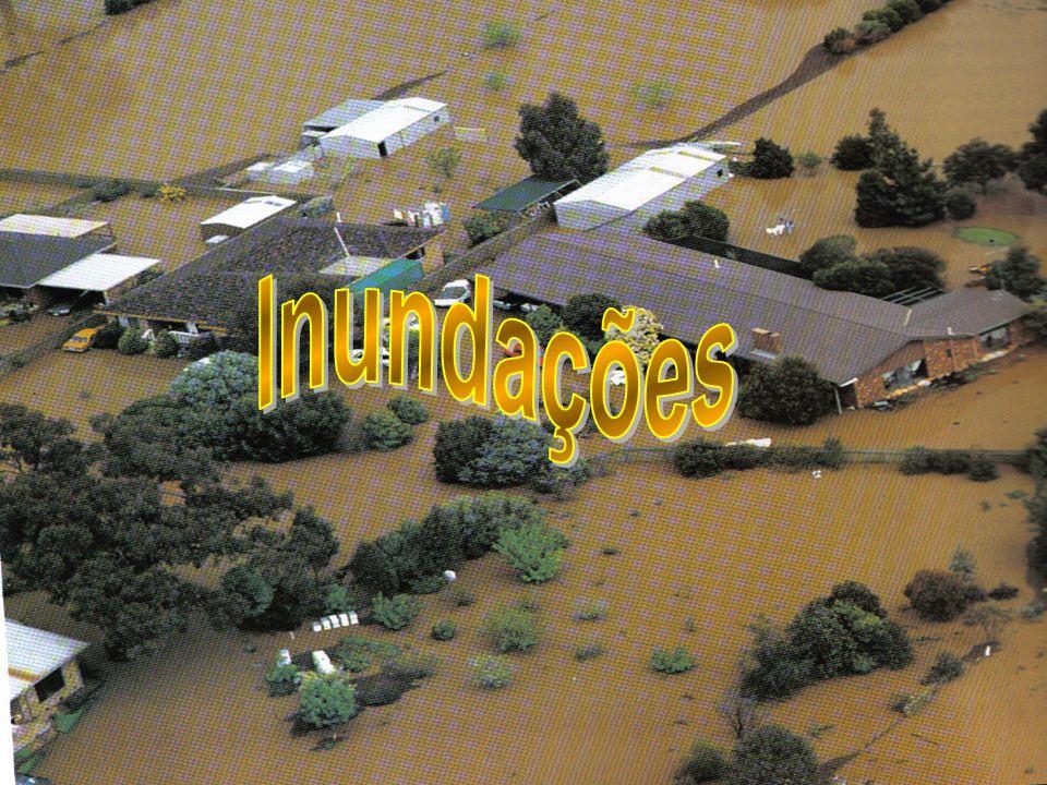 As inundações aumentam continuamente em todos os países.