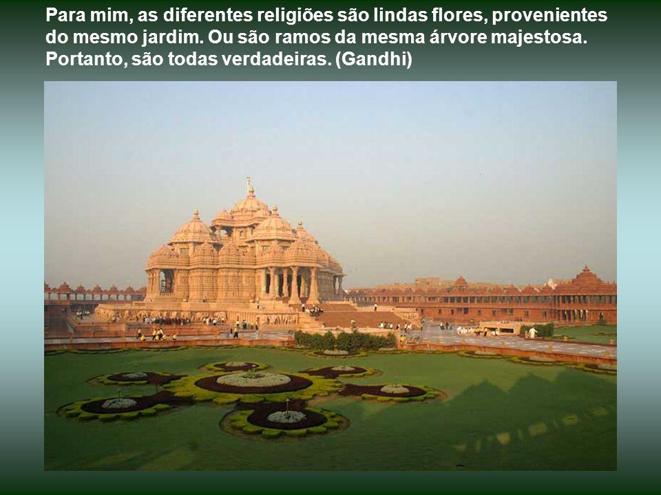 Para mim, as diferentes religiões são lindas flores, provenientes do mesmo jardim.