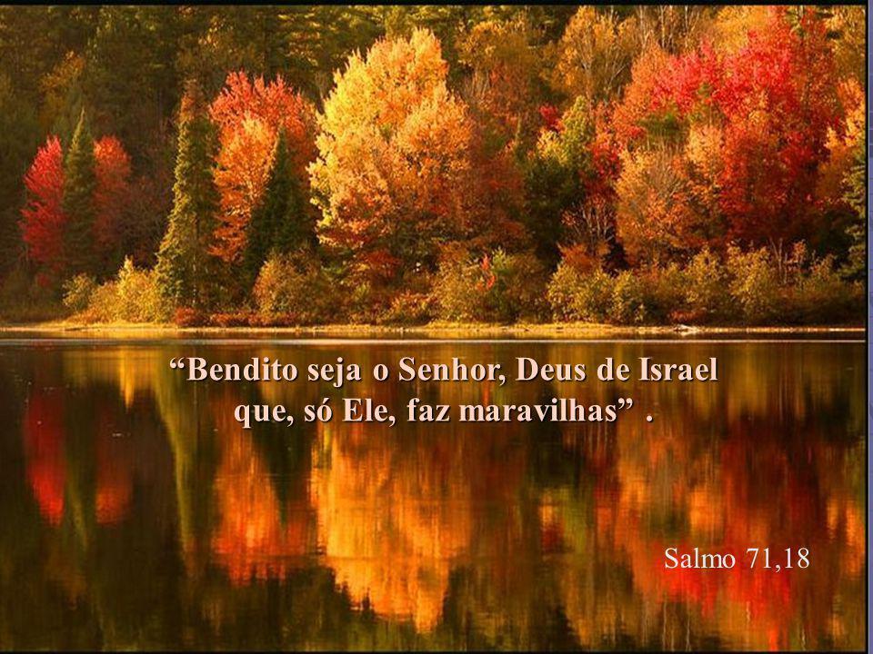 Salmo 71,18 Bendito seja o Senhor, Deus de Israel que, só Ele, faz maravilhas .
