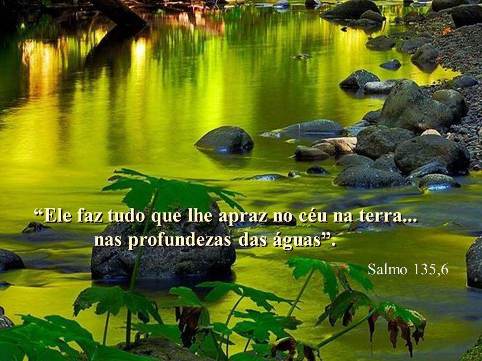 Abriu o rochedo e jorrou a água como um rio a correr... Abriu o rochedo e jorrou a água como um rio a correr... Salmo 104,41