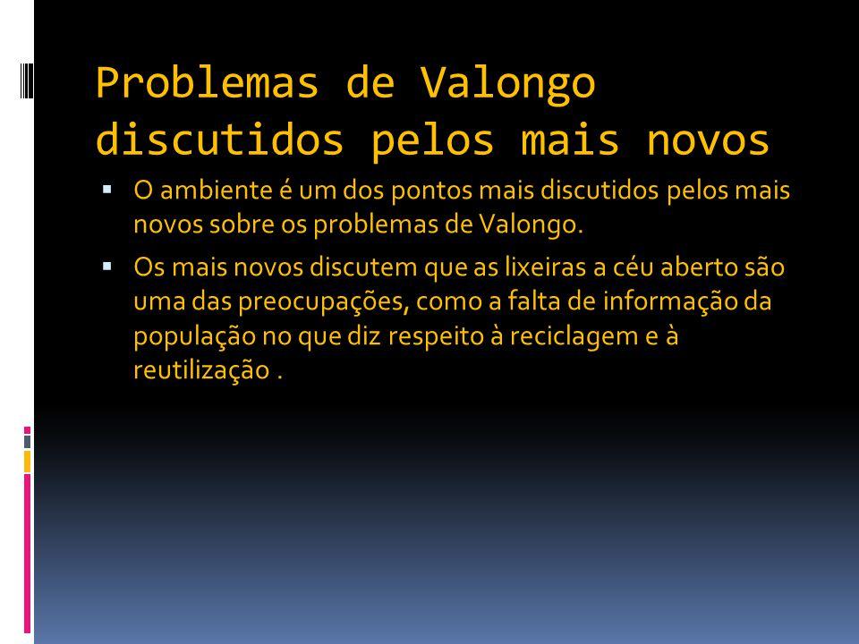 Problemas de Valongo discutidos pelos mais novos  O ambiente é um dos pontos mais discutidos pelos mais novos sobre os problemas de Valongo.