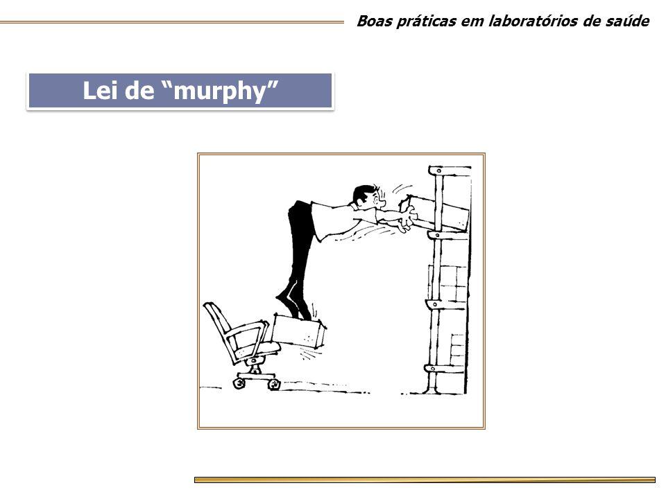 """Lei de """"murphy"""" Boas práticas em laboratórios de saúde"""