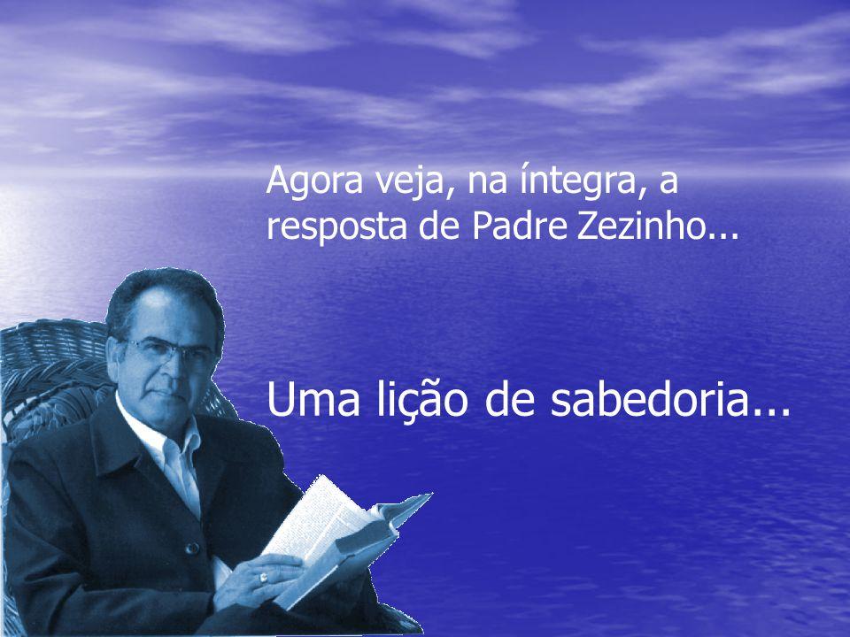 """Pequeno trecho da carta de Paulo Souza ao Padre Zezinho: """" Eu, evangélico e ex-católico. Maria não pode nada. Menos ainda as imagens dela que vocês ad"""